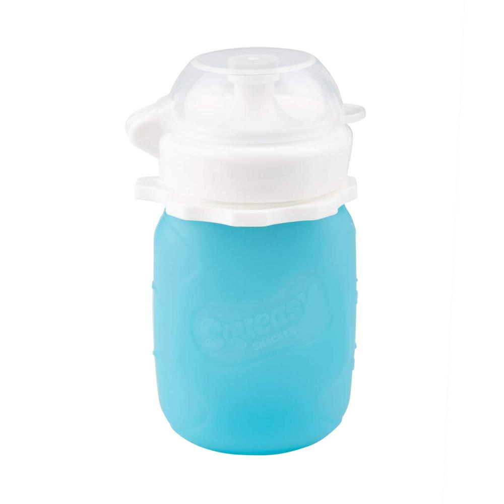 Squeasy Gear Food Pouch Snacker - 3.5oz - Clear Blue