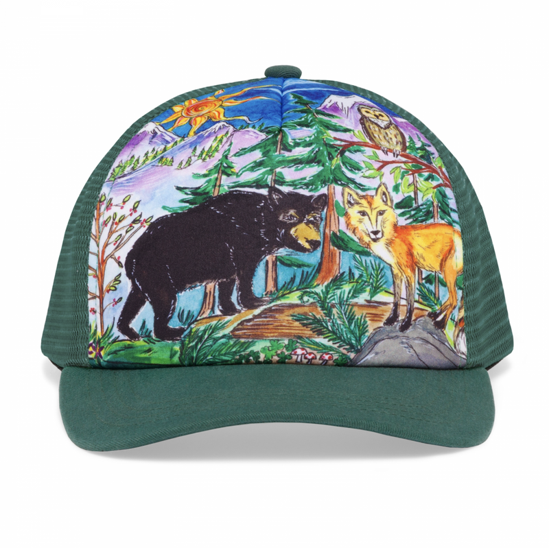 Sunday Afternoon Hats - Kids Trucker Hat - Forest Friends