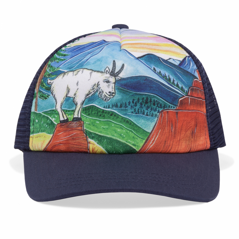Sunday Afternoon Hats - Kids Trucker Hat - Mountain Goat