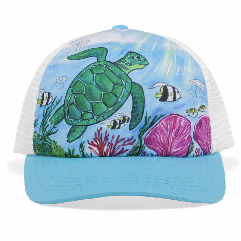 Sunday Afternoon Hats - Kids Trucker Hat - Sea Turtle