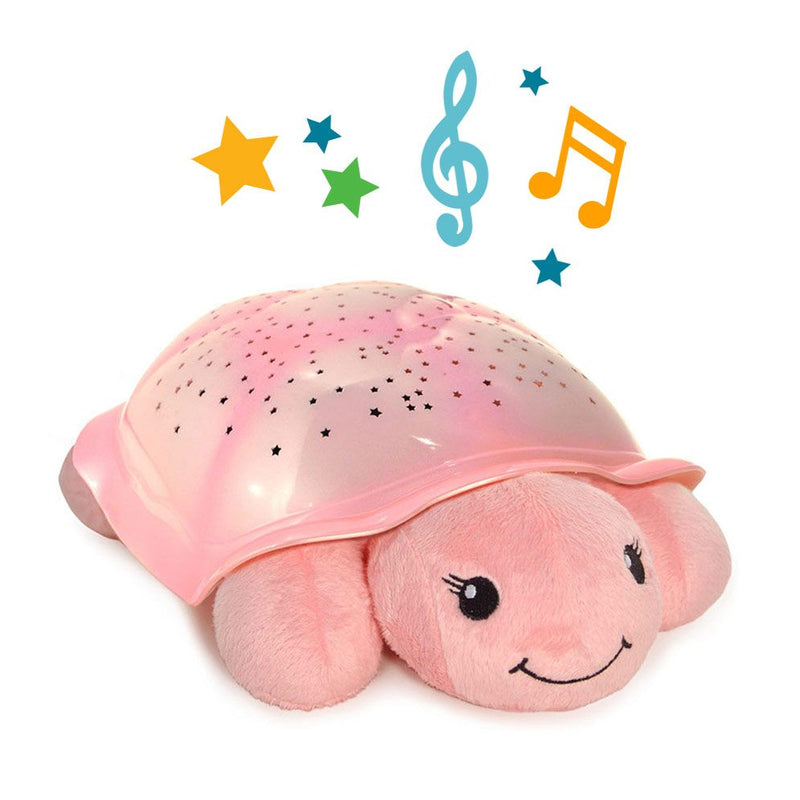 Cloud B Nightlight Projector & Sound Generator - Twinkling Twilight Turtle - Pink