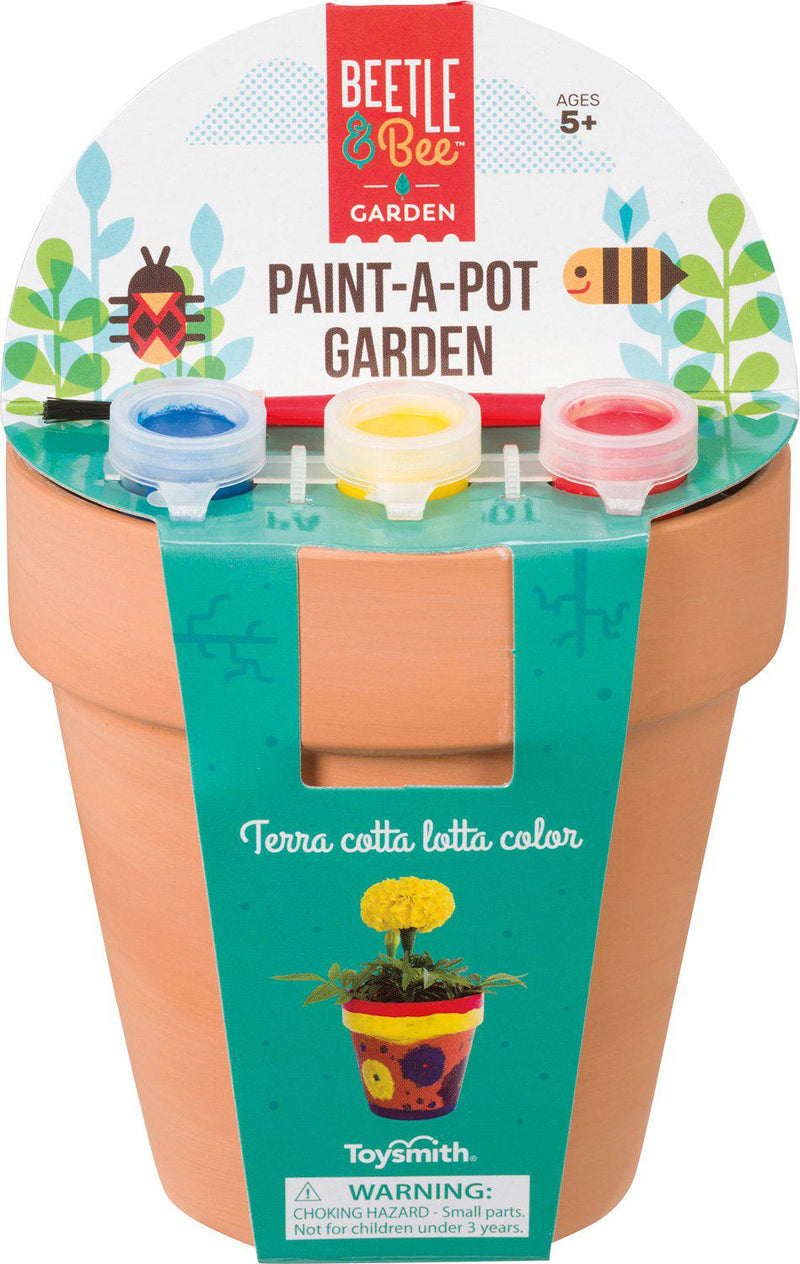 Beetle & Bee Paint-a-Pot Garden