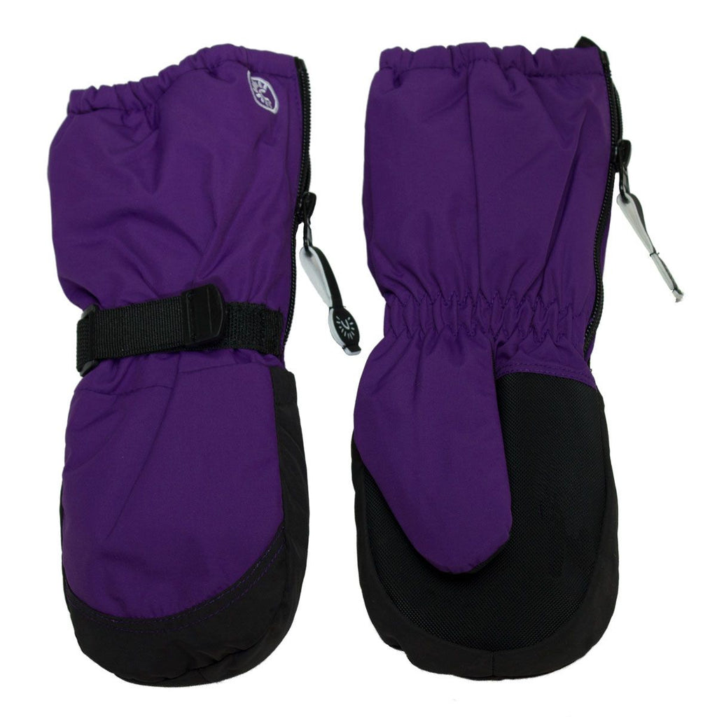 Calikids Winter Mitts - Long Cuff Zip - Imperial Purple