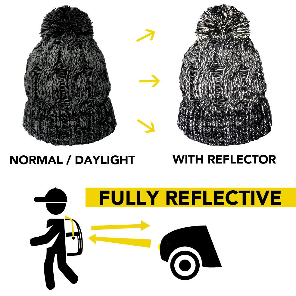 Zapped Reflective Beanie
