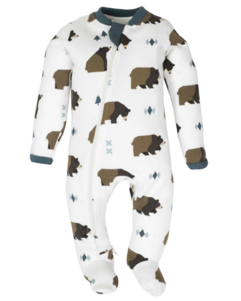 ZippyJamz Footed Coverall - Little Grizzle
