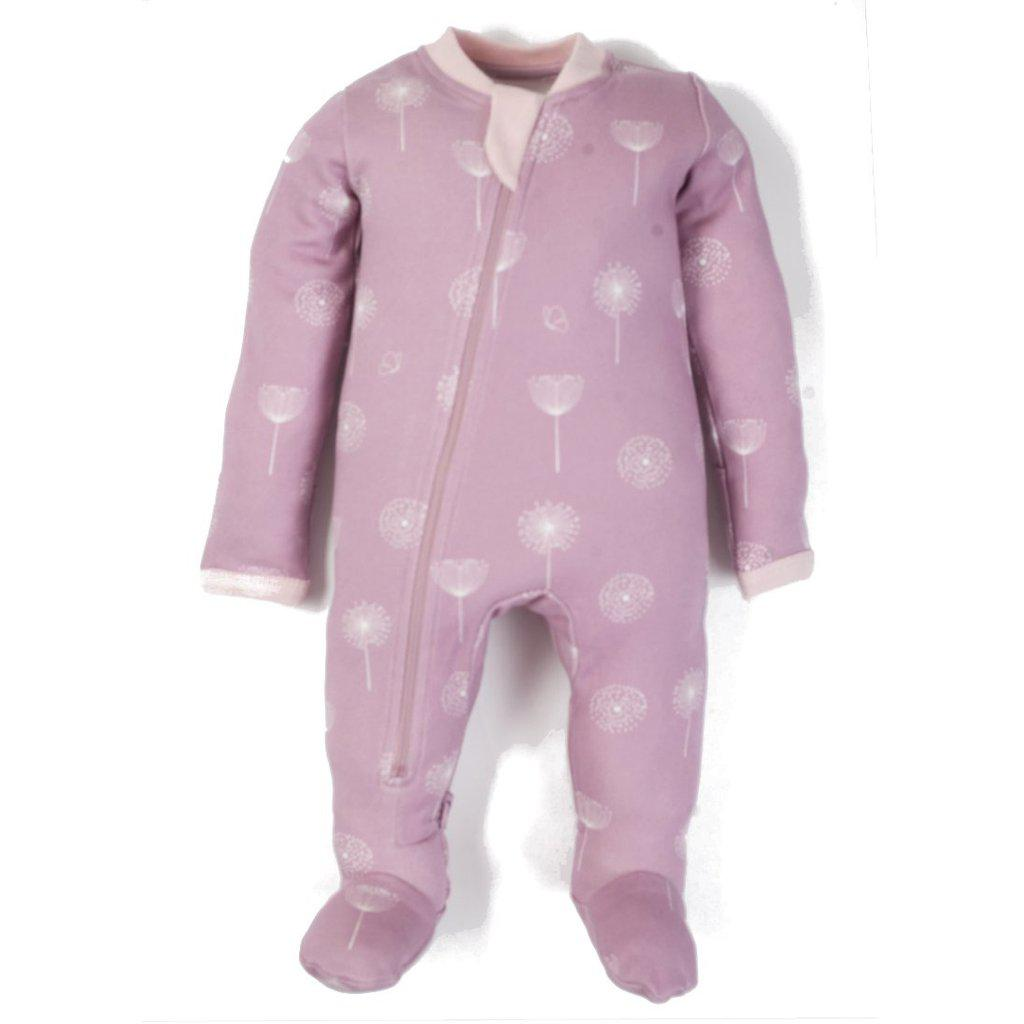 ZippyJamz Footed Coverall - Pretty Poppie