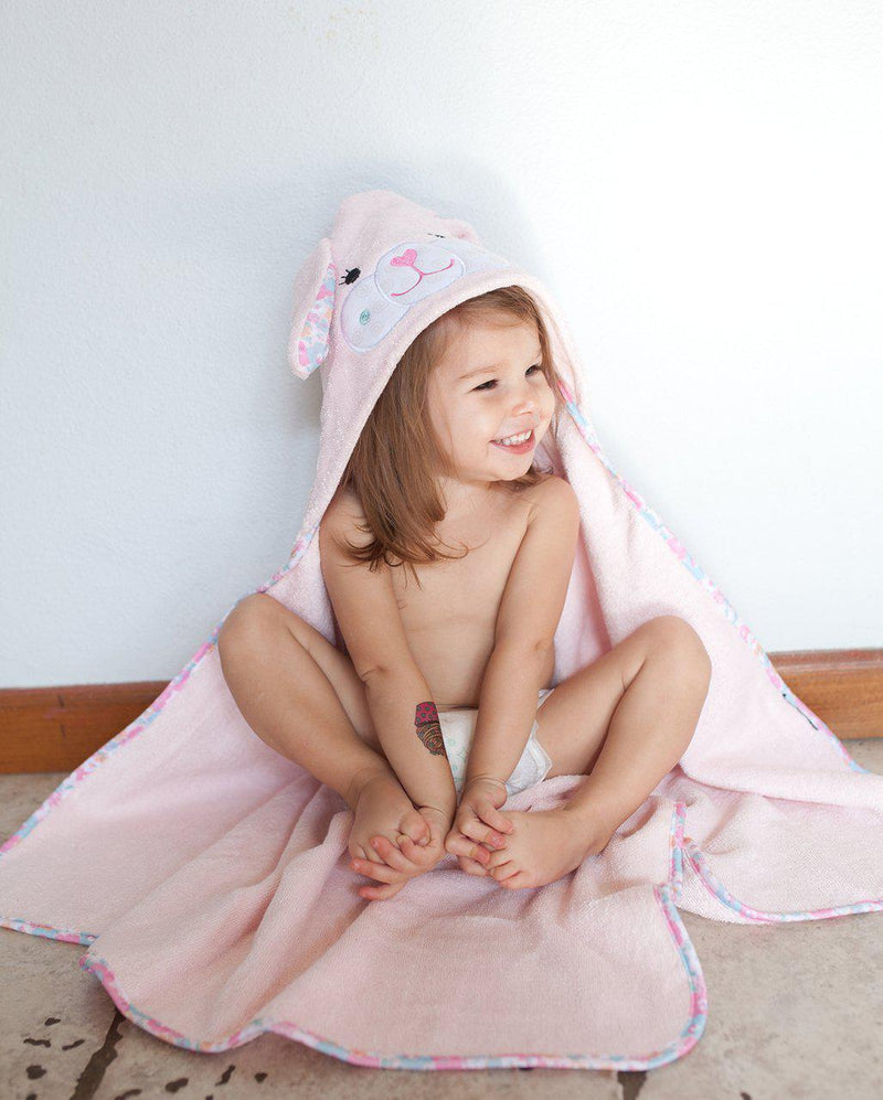 Zoocchini Hooded Baby Towel - Beatrice The Bunny