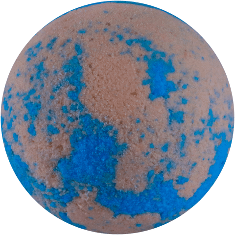 Bubble gum bath bomb. Pink and blue. Soften and relax with a burst of bubble gum.