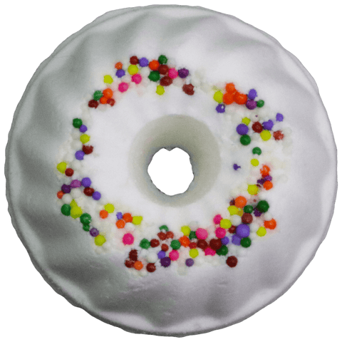 Happy birthday bath bomb. Vanilla bundt cake with rainbow sprinkles.