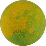 Lime freeze bath bomb. Yellow and green. Soften and relax with a burst of lemon and lime.