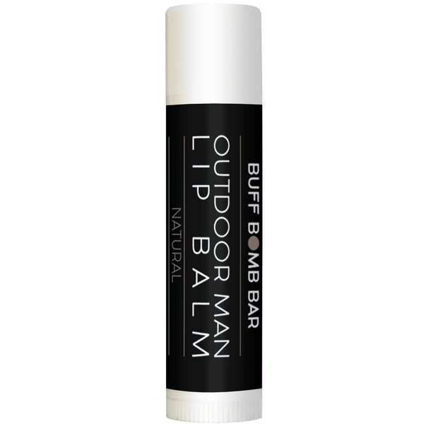 Outdoor man all natural lip balm. Made with the manliest ingredients to help moisturize and soothe dry, cracked lips.