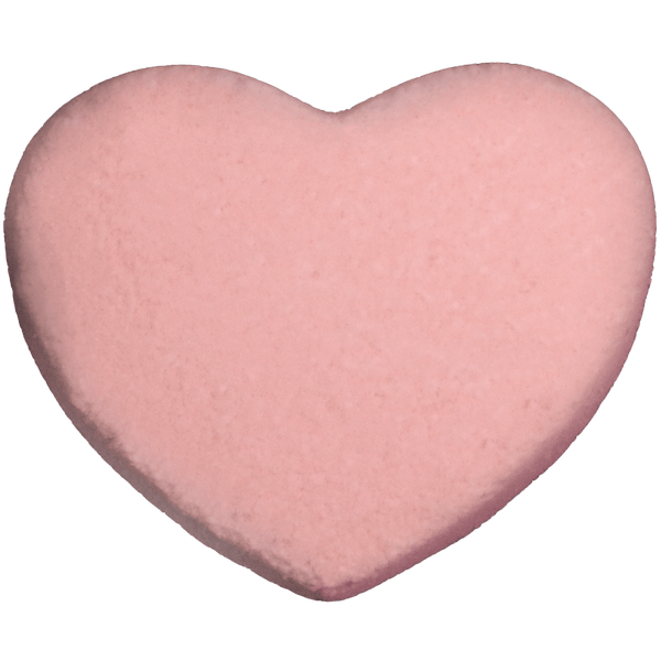 Heart bath bomb. A beautiful rose fragrance. Say I love you