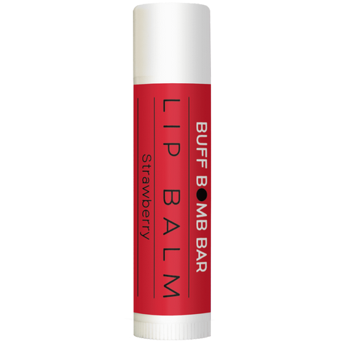 Strawberry natural lip balm. A sweet treat!