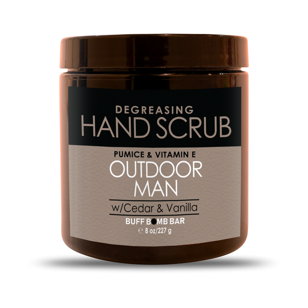 Outdoor Man Hand Scrub