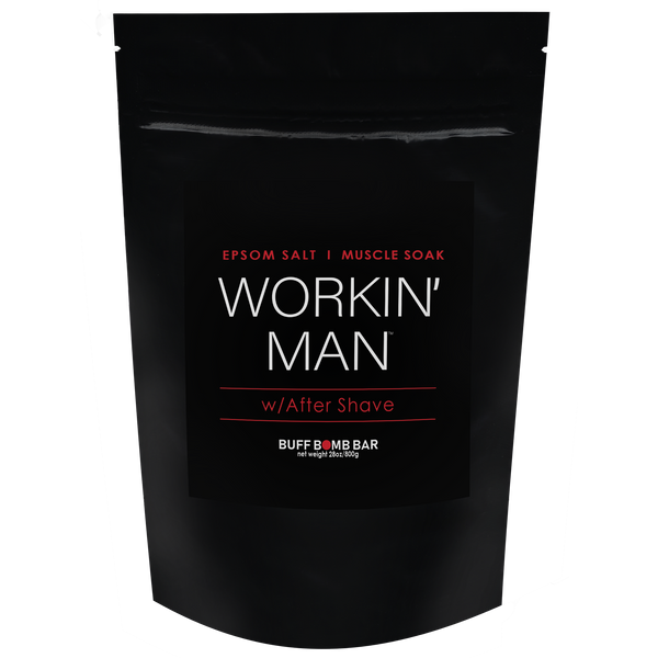 Large workin' man muscle soak. 28 oz bag. Cranberry and lemon. For tired, achy muscles.