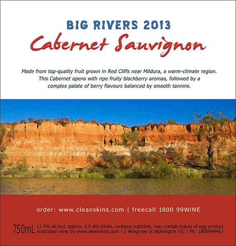 Big Rivers 2015 Cabernet Sauvignon x 12