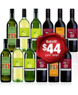Quaffer RED & WHITE MIXED Wine Dozen Special Offer - 12 bottles