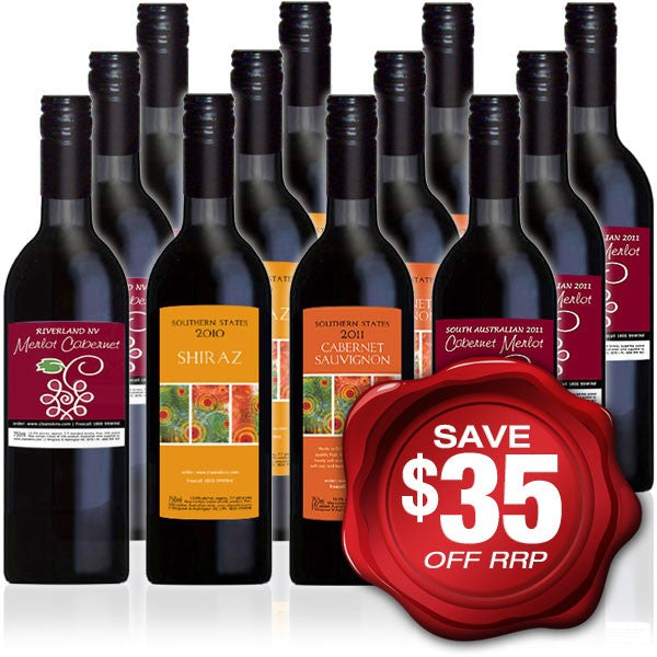 Everyday Quaffer RED Wine Mixed Dozen -  12 bottles