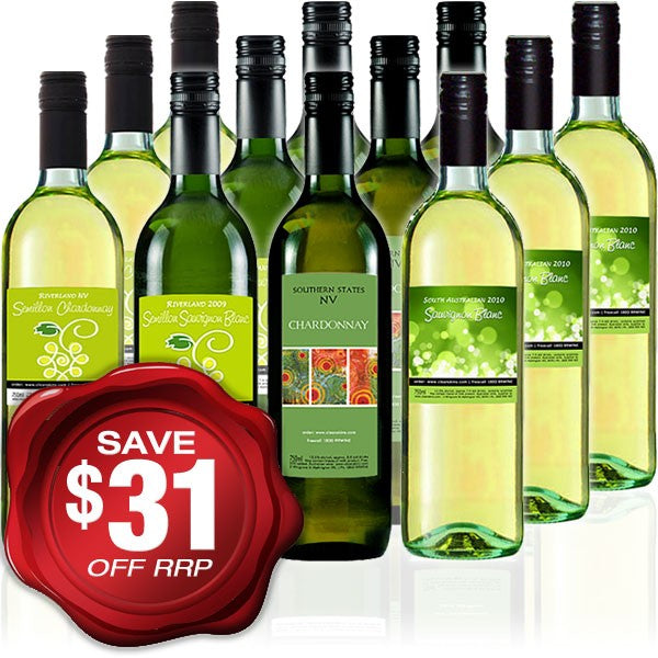 Quaffer WHITE Wine Mixed Dozen - 12 bottles