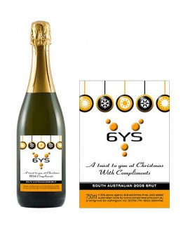 Corporate Wine Gift Custom Label Sparkling Wine, Bronze Range