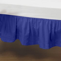 BabyDoll Standard Crib Solid Dust Ruffles, Royal Blue