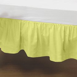 BabyDoll Round Crib Solid Dust Ruffles, Yellow