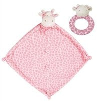 Angel Dear Blanket with Matching Rattle Baby Gift Set : Pink Giraffe