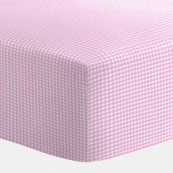 BabyDoll Gingham Portable Crib Sheet, Pink