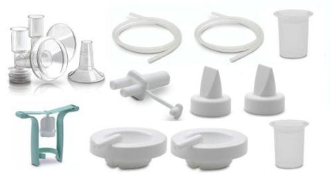 Ameda Purely Yours Replacement Parts Kit with One-Hand Manual Breastpump BPA FREE - XXLarge (36.0 mm)/ Insert (32.5 mm)