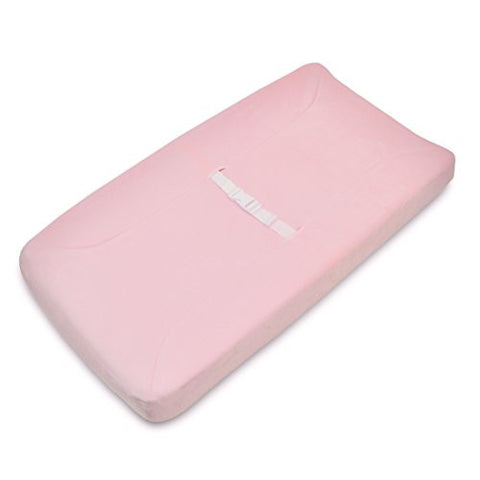 American Baby Company Heavenly Soft Chenille Fitted Contoured Changing Pad Cover, Pink