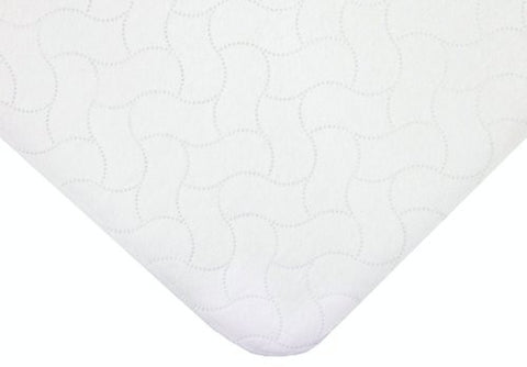 American Baby Company Flat Quilted Waterproof Cradle Pad, White