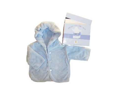 Baby Champagne 6 Months Jacket in the Box Gift Set, Blue