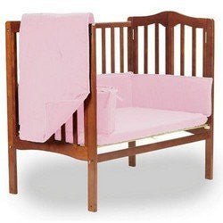 BabyDoll Solid Portable Crib Bedding, Pink