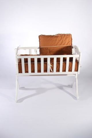 Baby Doll Bedding Go Green Organice Cradle Bedding Set, Hazelnut