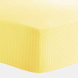 BabyDoll Gingham Bassinet Sheet, Yellow, 13x29