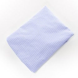 BabyDoll Gingham Round Crib Sheet, Light Blue