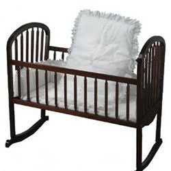 aBaby Portable Crib Bedding, White Eyelet