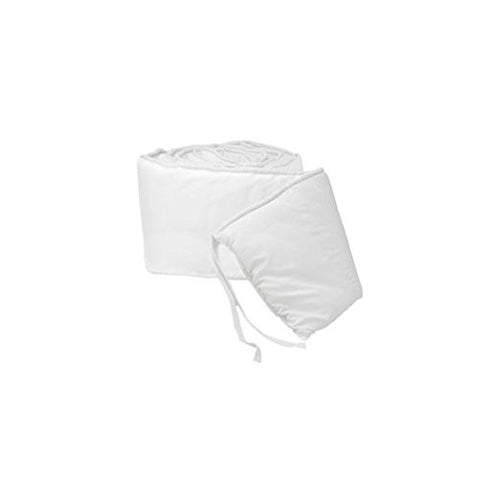 BabyDoll Tailored Baby Porta Crib Bumpers, White, 24x38
