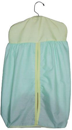 Baby Doll Bedding  Reversible Diaper Stacker, Mint/Yellow