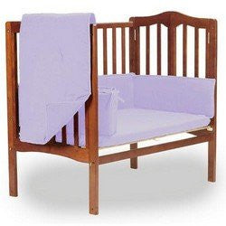 BabyDoll Solid Portable Crib Bedding, Lavender