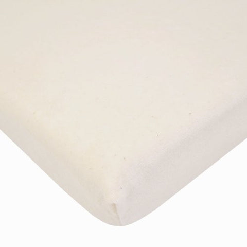 American Baby Company Fitted Velour Crib Sheet made with Organic cotton, Natural Color