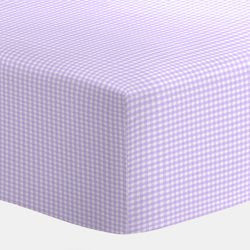 BabyDoll Gingham Portable Crib Sheet, Lavender