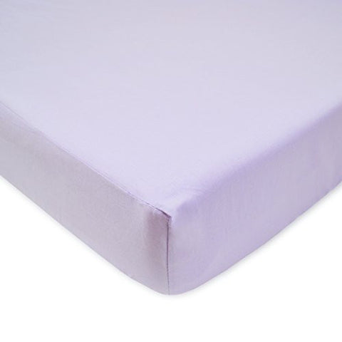 American Baby Company 100% Cotton Percale Fitted Crib Sheet, Lavender