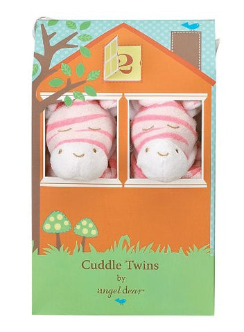Angel Dear Cuddle Twin Set, Bright Pink Zebra