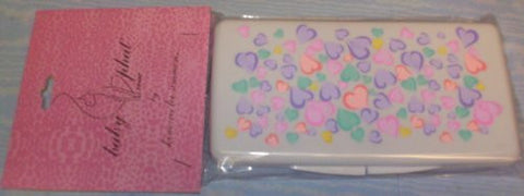 Baby Phat Multicolor Hearts Baby Wipes Case