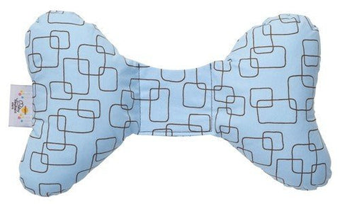 Baby Elephant Ears Head Support Pillow for Car Seat, Stroller, Swing, Bouncer, Changing Table (Blue Mod Square)