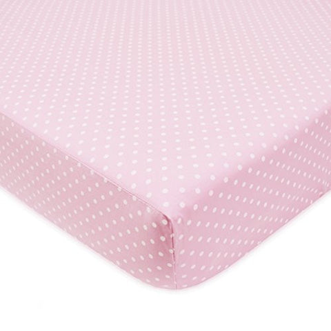 American Baby Company 100% Cotton Percale Fitted Crib Sheet, Pink Dots