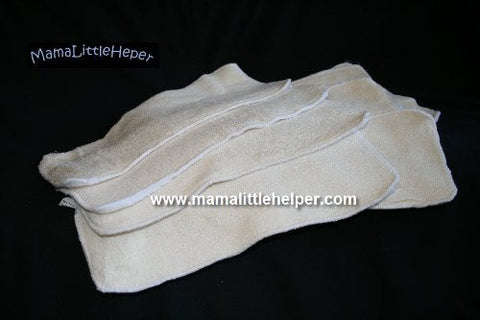 Bamboo Baby Cloth Diaper Inserts/ Soakers (Extra Long) - Comes in a Package of 6 Diaper Inserts