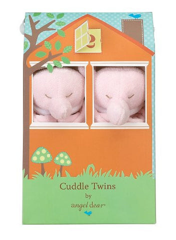 Angel Dear Cuddle Twin Set, Pink Elephant