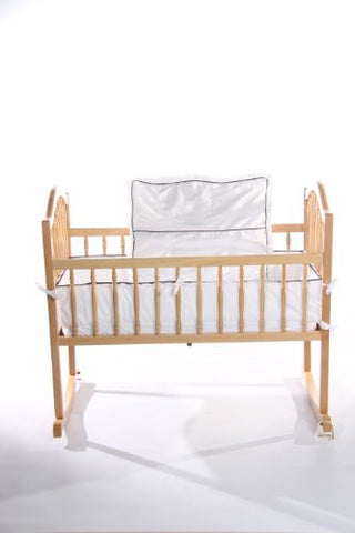 Baby Doll Bedding Go Green Organice Cradle Bedding Set, White